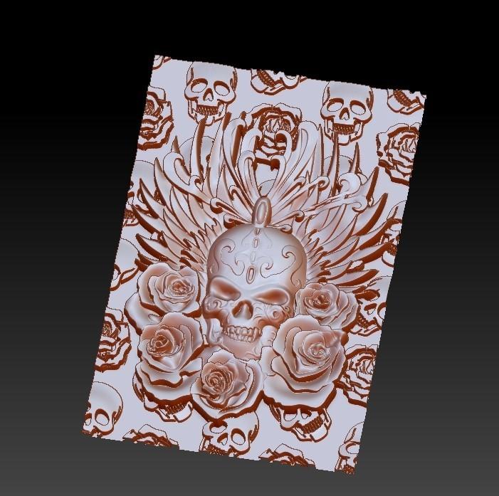 skullAndRoses5.jpg Télécharger fichier STL gratuit crâne et rose • Objet à imprimer en 3D, stlfilesfree