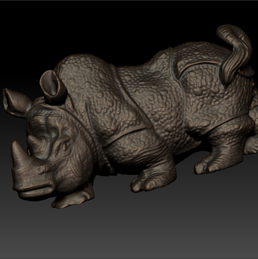 rhinoceros5.jpg Download free STL file rhinoceros sculpture • 3D print object, stlfilesfree
