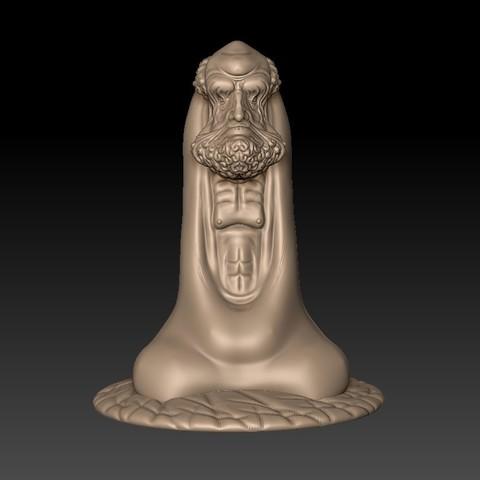 BodhidharmaB1.jpg Download free STL file Bodhidharma • 3D printing design, stlfilesfree