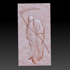 DeathGrimReaper.jpg Télécharger fichier OBJ gratuit Death Grim Reaper modèle de bas-relief • Modèle à imprimer en 3D, stlfilesfree