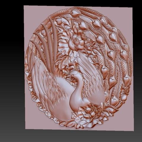 circularPhoenix2.jpg Download free STL file Phoenix 3d model of bas-relief • 3D printable object, stlfilesfree