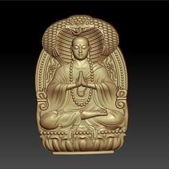 dizangBuddha1.jpg Télécharger fichier STL gratuit Jizo Bouddha ou Kshitigarbha • Plan pour impression 3D, stlfilesfree
