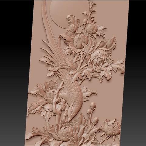 birdsAndFlowers3.jpg Télécharger fichier STL gratuit fleurs et oiseaux • Plan pour impression 3D, stlfilesfree