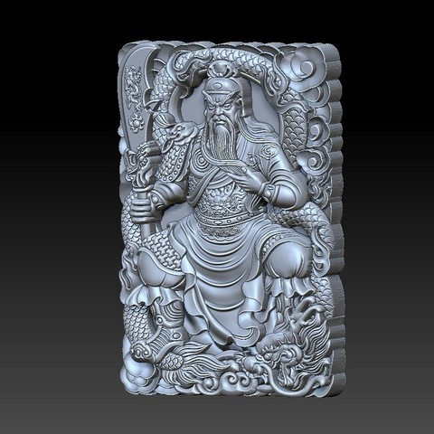 guangong_sitting2.jpg Download free STL file Guangong • 3D printing model, stlfilesfree