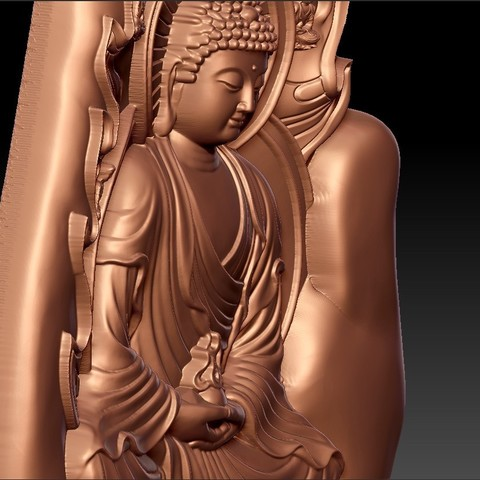 buddhaHand9.jpg Download free STL file buddha with background of hand • 3D printable design, stlfilesfree