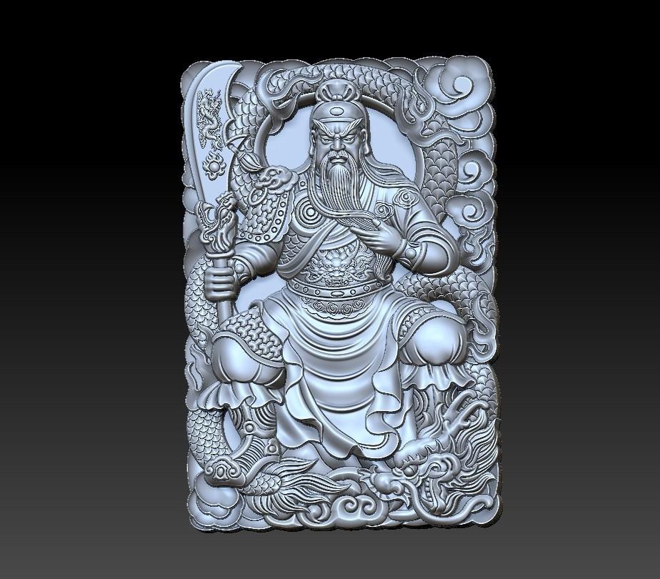 guangong_sitting1.jpg Download free STL file Guangong • 3D printing model, stlfilesfree