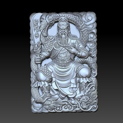 guangong_sitting1.jpg Télécharger fichier STL gratuit Guangong • Design imprimable en 3D, stlfilesfree
