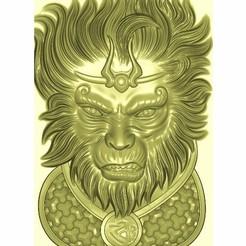 monkey_king1.jpg Download free STL file monkey king • 3D printer object, stlfilesfree