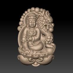bodhisattva_with_dragon_background1.jpg Télécharger fichier STL gratuit Bodhisattva kwan-yin avec fond de dragon • Modèle pour imprimante 3D, stlfilesfree