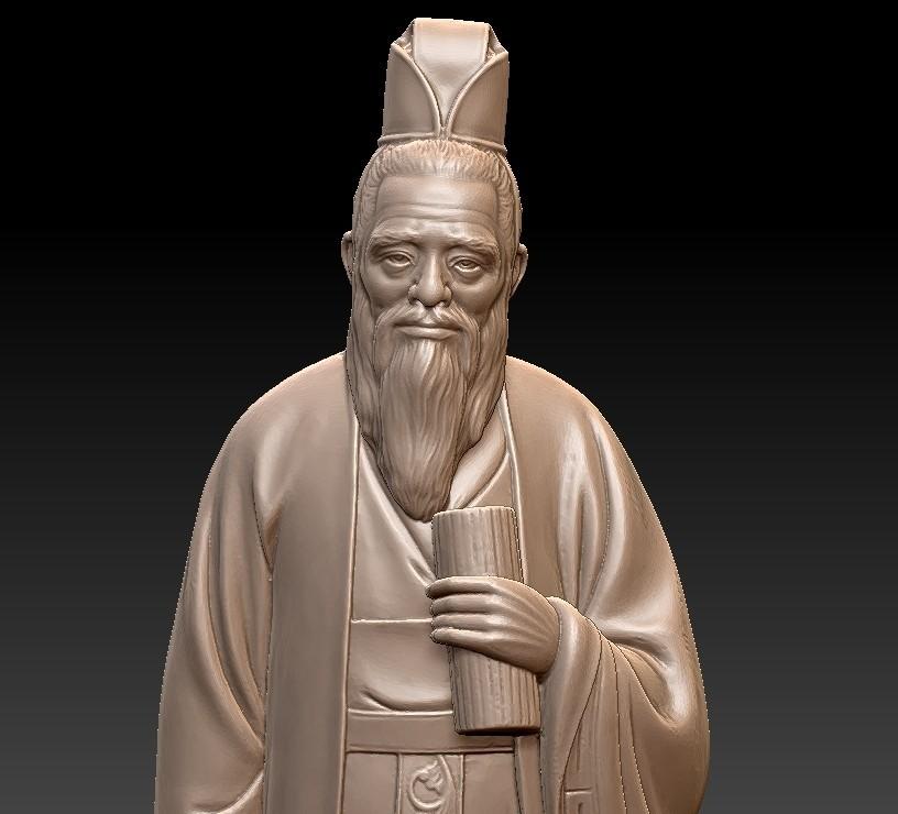 ConfuciusSculptureA5.jpg Download free STL file Confucius statue • 3D printing object, stlfilesfree
