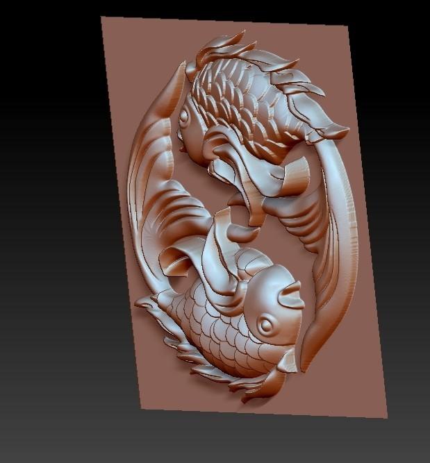 twoFish3.jpg Download free OBJ file cute fish • 3D printer template, stlfilesfree