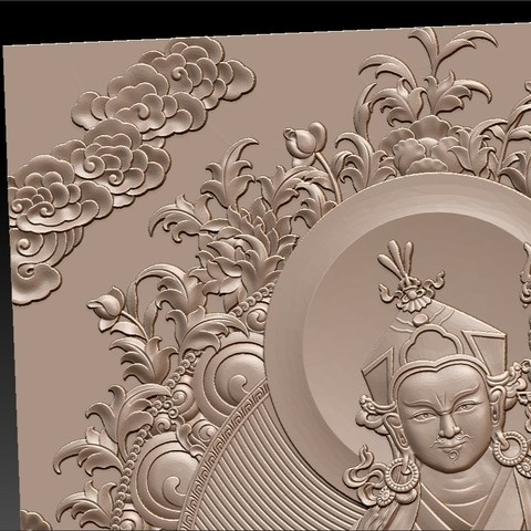 Thangka8.jpg Download free STL file Thangka paintings of bas-relief • 3D print template, stlfilesfree