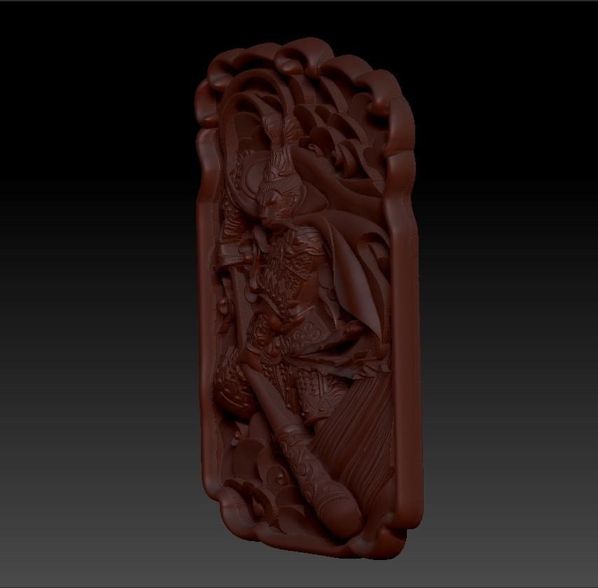 MonkeyKingZ3.jpg Télécharger fichier OBJ gratuit MONKEY KING MODÈLE 3D DE BAS-RELIEF POUR CNC • Objet pour impression 3D, stlfilesfree