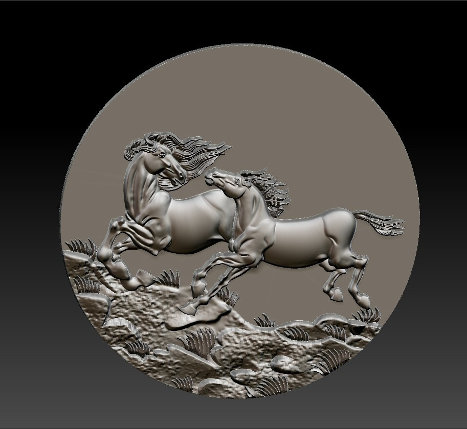 Two_horses7.jpg Download free STL file Two horses • 3D printer design, stlfilesfree