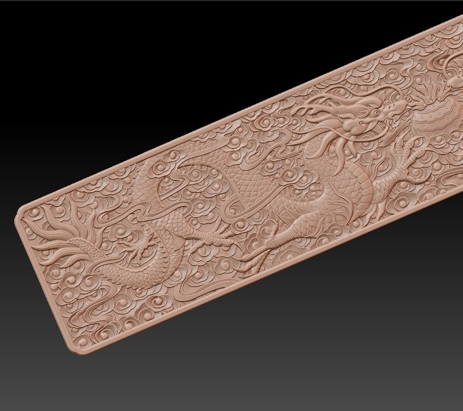 two_dragons8.jpg Download free STL file Chinese classical two-dragons • 3D printer template, stlfilesfree