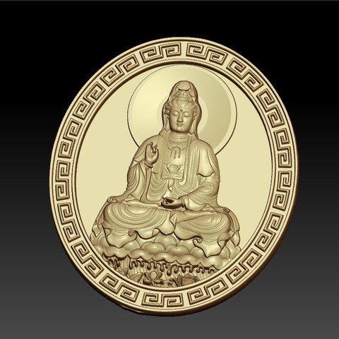 guanyinDDD4.jpg Download free STL file Guanyin bodhisattva Kwan-yin • Template to 3D print, stlfilesfree
