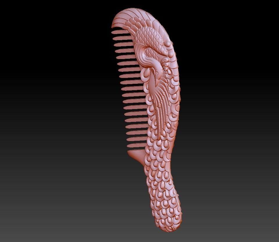 combpeacock2.jpg Download free OBJ file peocock comb • Design to 3D print, stlfilesfree