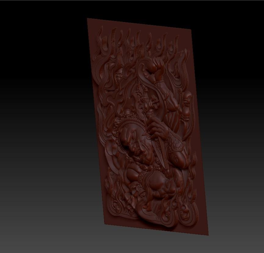 tibetbuddhademonz3.jpg Télécharger fichier OBJ gratuit MODÈLE TIBETAN BUDDHA RELIEF POUR CNC • Objet pour impression 3D, stlfilesfree