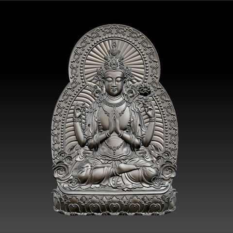 guanyin_bodhisattva_with_thousands_of_hands4.jpg Télécharger fichier STL gratuit Kwan-yin • Objet imprimable en 3D, stlfilesfree