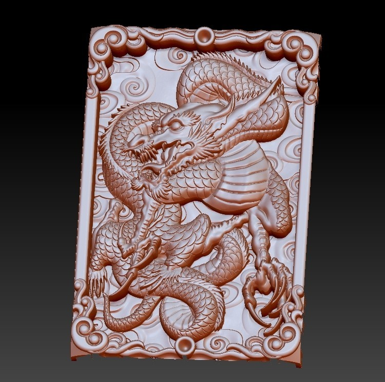 DragonZ4.jpg Download free OBJ file dragon 3d model of relief for cnc or 3d printing • 3D printable template, stlfilesfree