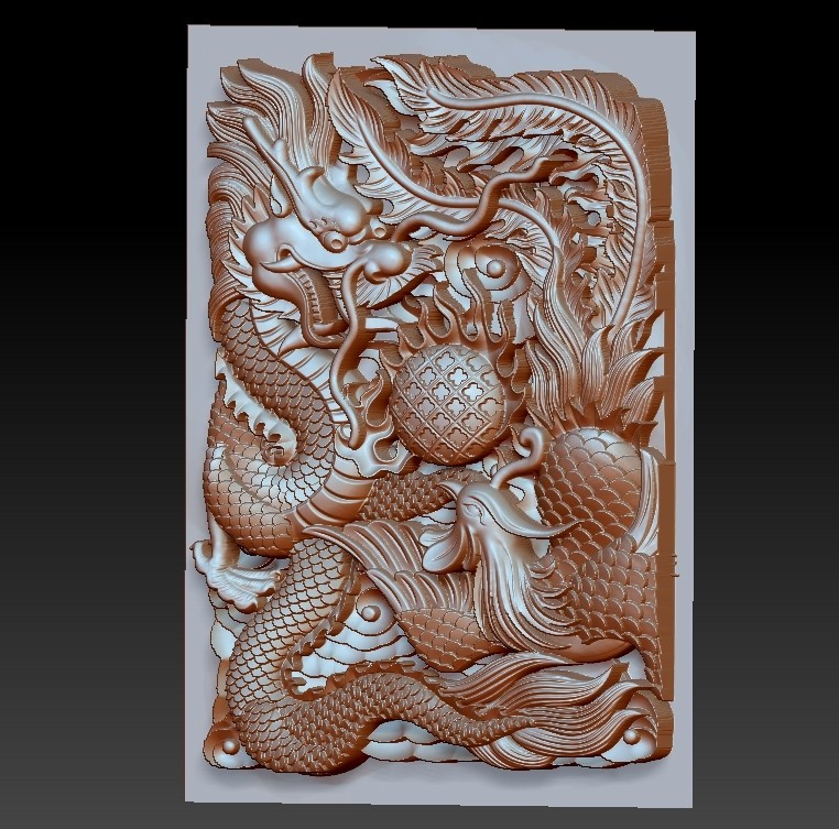 DragonAndPhoenix2.jpg Download free OBJ file dragon and phoenix • Design to 3D print, stlfilesfree
