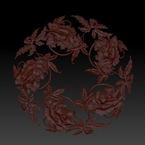 flowers1.jpg Download free OBJ file floral pattern 3d model of bas-relief for cnc • Model to 3D print, stlfilesfree