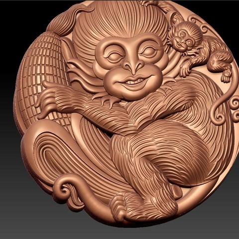 Monkeys6.jpg Télécharger fichier STL gratuit Singes • Plan pour imprimante 3D, stlfilesfree