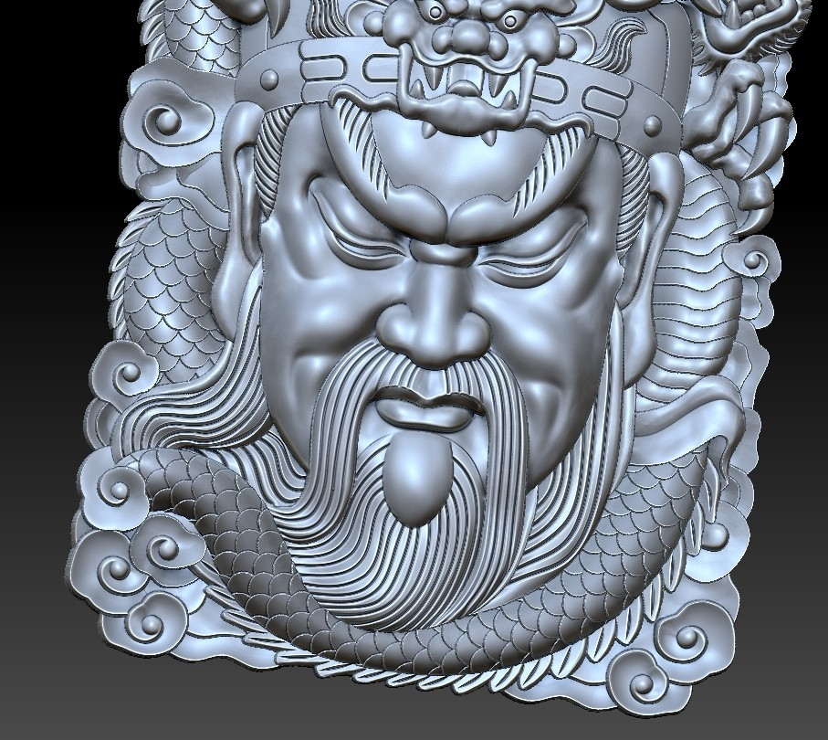 guangong_dragon5.jpg Download free STL file Guangong and dragon • 3D printable design, stlfilesfree