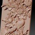 birdsAndFlowers6.jpg Télécharger fichier STL gratuit fleurs et oiseaux • Plan pour impression 3D, stlfilesfree