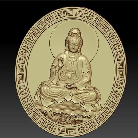 guanyinDDD5.jpg Download free STL file Guanyin bodhisattva Kwan-yin • Template to 3D print, stlfilesfree