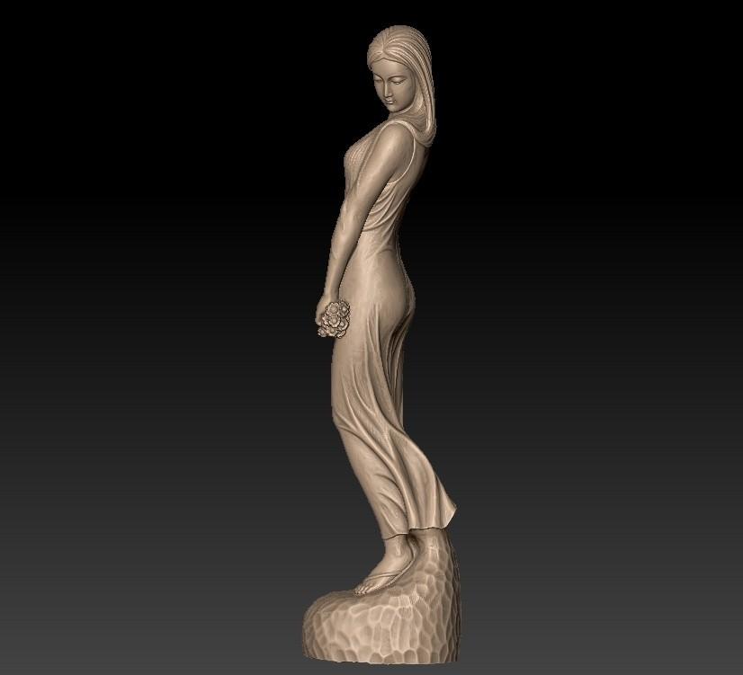 ChineseBeautyA3.jpg Télécharger fichier STL gratuit Beauté • Objet pour imprimante 3D, stlfilesfree