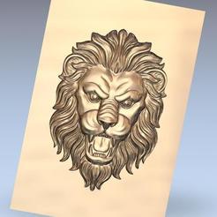 lion_head1.jpg Télécharger fichier OBJ gratuit tête de lion • Design pour imprimante 3D, stlfilesfree