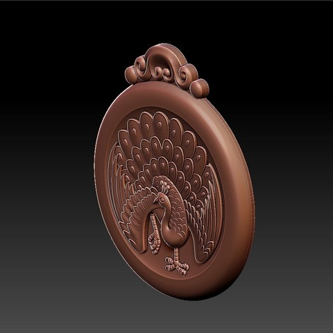 peacock_pendant8.jpg Download free STL file peacock pendant • Model to 3D print, stlfilesfree