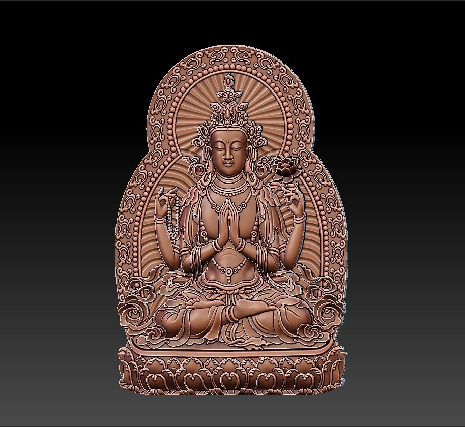 guanyin_bodhisattva_with_thousands_of_hands3.jpg Télécharger fichier STL gratuit Kwan-yin • Objet imprimable en 3D, stlfilesfree