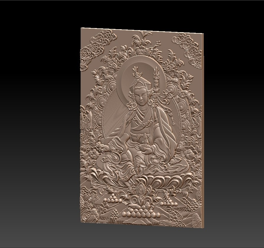 Thangka2.jpg Download free STL file Thangka paintings of bas-relief • 3D print template, stlfilesfree