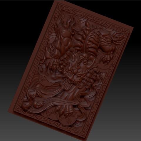 pixiu4.jpg Télécharger fichier STL gratuit Mythique Animal Sauvage Pixiu • Modèle à imprimer en 3D, stlfilesfree