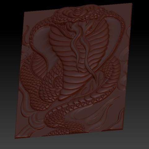snake3.jpg Télécharger fichier STL gratuit Cobra Snake relief modèle pour cnc • Design imprimable en 3D, stlfilesfree