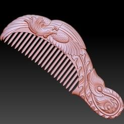 combA1.jpg Download free OBJ file Phoenix Comb • 3D printable design, stlfilesfree