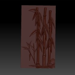 bamboo1.jpg Download free OBJ file bamboo 3d model of relief for free • 3D print design, stlfilesfree