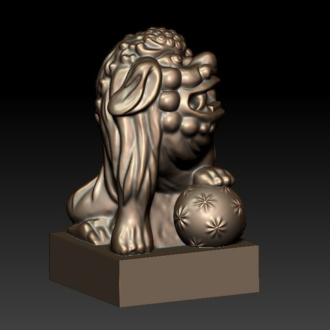 FooDogsDDD4.jpg Download free STL file guardian lions or Foo Dogs • Template to 3D print, stlfilesfree