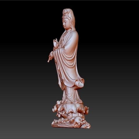 016guanyin2.jpg Download free OBJ file Guanyin bodhisattva Kwan-yin sculpture for cnc or 3d printer #016 • 3D printer design, stlfilesfree