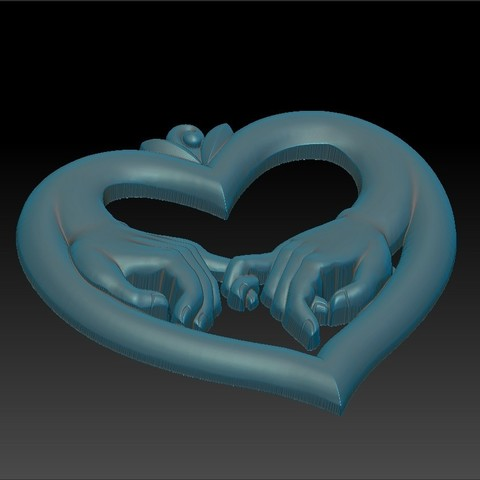 love_hands4.jpg Download free STL file hands of love • 3D printer model, stlfilesfree