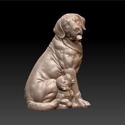 dogs1.jpg Télécharger fichier STL gratuit sculpture de chiens • Plan imprimable en 3D, stlfilesfree
