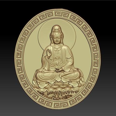 guanyinDDD1.jpg Download free STL file Guanyin bodhisattva Kwan-yin • Template to 3D print, stlfilesfree