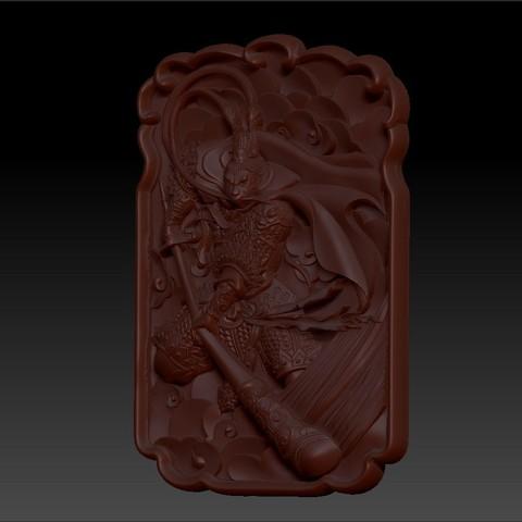 MonkeyKingZ2.jpg Télécharger fichier OBJ gratuit MONKEY KING MODÈLE 3D DE BAS-RELIEF POUR CNC • Objet pour impression 3D, stlfilesfree