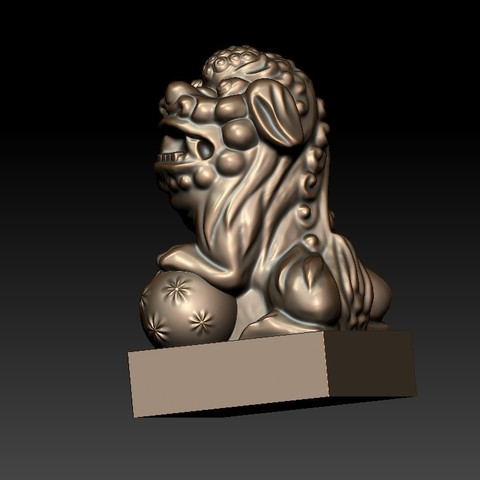 FooDogsDDD2.jpg Download free STL file guardian lions or Foo Dogs • Template to 3D print, stlfilesfree