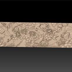 birdsAndFlowers2.jpg Télécharger fichier STL gratuit motif oriental de fleurs et d'oiseaux • Plan pour imprimante 3D, stlfilesfree