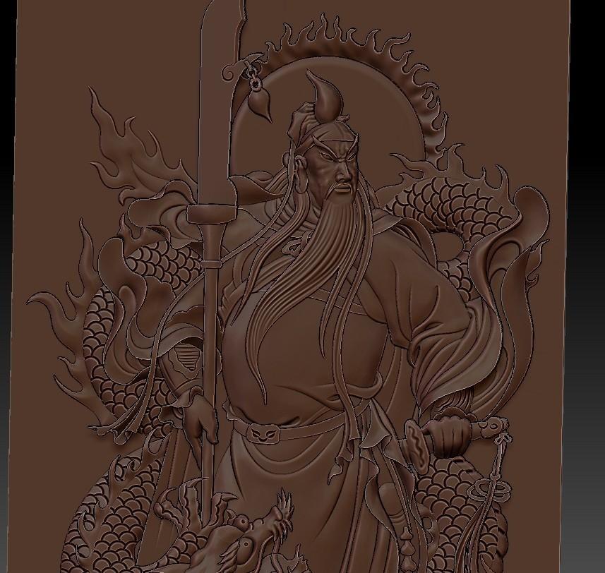 guangongDragon6.jpg Télécharger fichier STL gratuit GuanGong et dragon • Plan imprimable en 3D, stlfilesfree