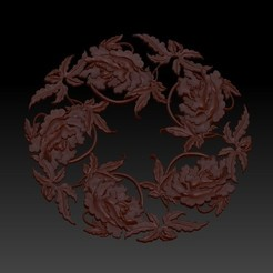 flowers2.jpg Download free OBJ file floral pattern 3d model of bas-relief for cnc • Model to 3D print, stlfilesfree