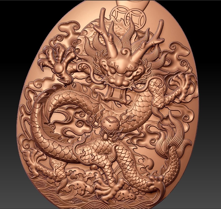 dragonPendant5.jpg Download free STL file dragon pendant • 3D printable template, stlfilesfree
